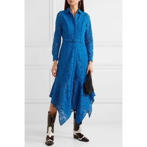 [GANNI] Belted asymmetric corded lace dress